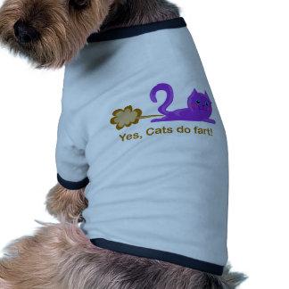 ¡El gato el Farting, gato farts! Camisa De Perro