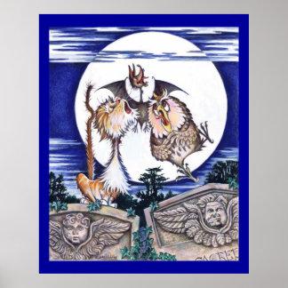 El gato, el palo y el búho poster