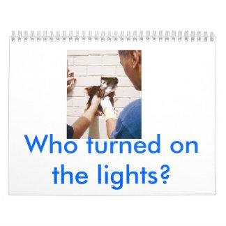 ¿el gato en la pared, quién encendió las luces? calendario
