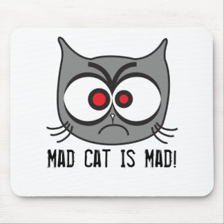 ¡El gato enojado está enojado! Tapete De Raton