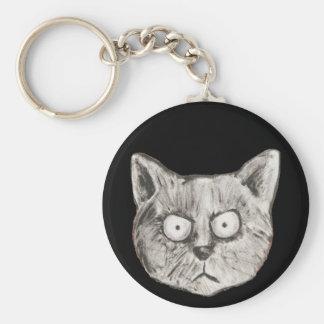 El gato enojado llavero personalizado