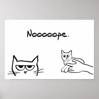 ¿El gato enojado quisiera un gatito? Póster