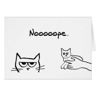 ¿El gato enojado quisiera un gatito? Tarjeta De Felicitación