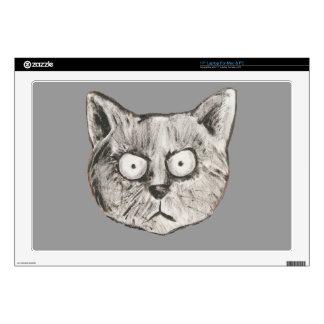 El gato enojado skins para 43,2cm portátiles