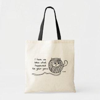 El gato enojado tiene gusto del hilado