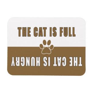 El gato está Lleno-Hambriento Imán De Vinilo