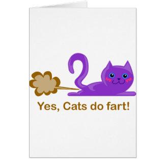 El gato fart - gato el farting tarjeta