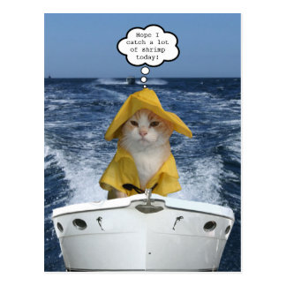 El Gato fisherman (Cat Fisherman) Postcard