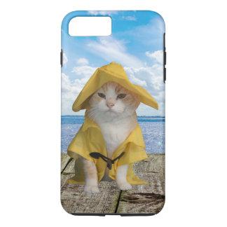 El Gato Fisherman Cat in Rain Slicker iPhone 8 Plus/7 Plus Case