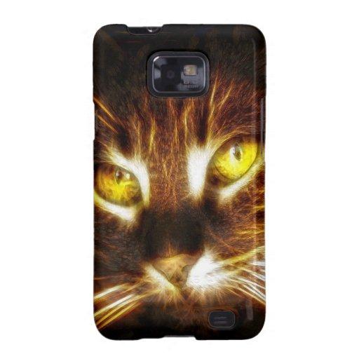 El gato, gatito, gatito con brillar intensamente o galaxy s2 fundas