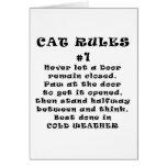 El gato gobierna el número 1 tarjeta