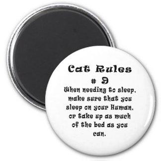 El gato gobierna el número 9 iman para frigorífico