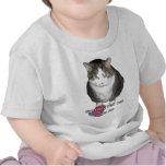 El gato gordo gruñón dice no camiseta