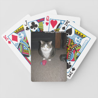 El gato gordo gruñón no se divierte baraja de cartas