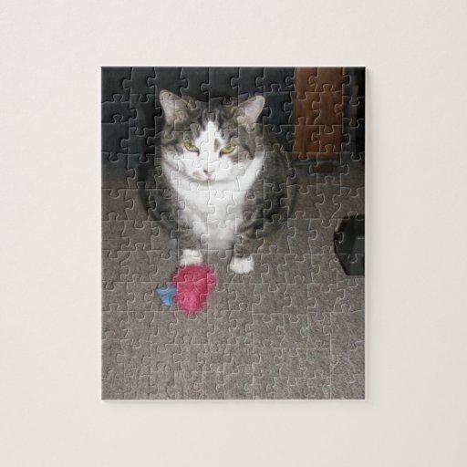 El gato gordo gruñón no se divierte rompecabeza