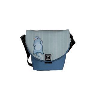 El gato gruñón George raya la mini bolsa de mensaj Bolsa De Mensajería