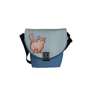 El gato gruñón Sue malhumorada raya la mini bolsa  Bolsa De Mensajería