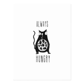 El gato hambriento tiene hambre tarjetas postales
