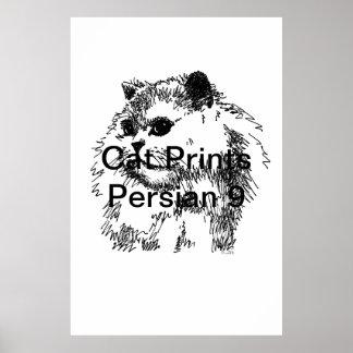 El gato imprime al persa 9 poster