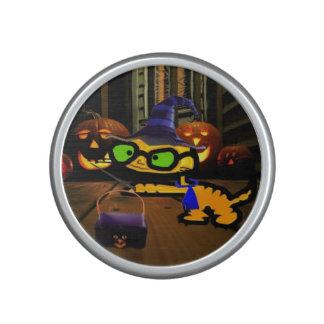 El gato juega al mago el Halloween Altavoz Bluetooth