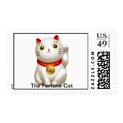 El gato lindo de la fortuna sellos
