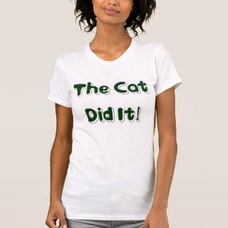 ¡El gato lo hizo! Camisa para mujer