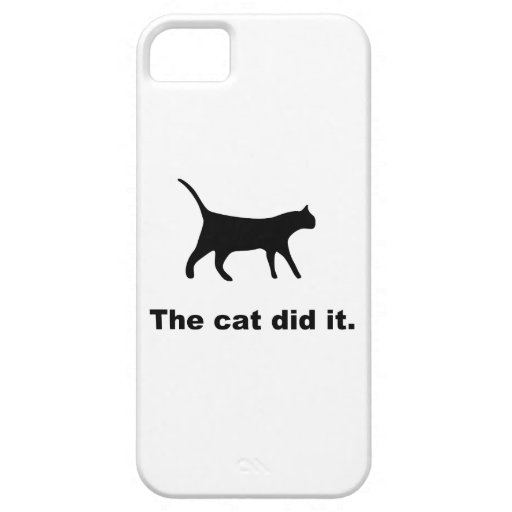 El gato lo hizo caso divertido del iPhone 5 iPhone 5 Case-Mate Protector