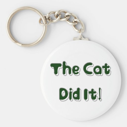 ¡El gato lo hizo! Llavero