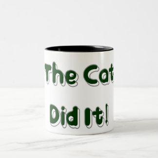 ¡El gato lo hizo! Taza