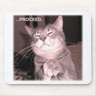 El gato malvado dice procede con el plan maestro alfombrillas de raton