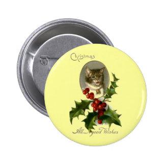 El gato marca recuerdos con etiqueta pin