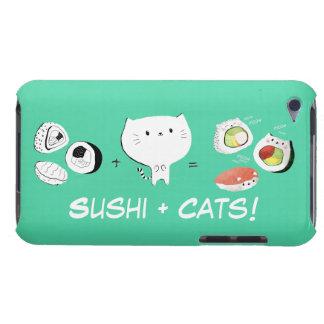 ¡El gato más el sushi iguala Cuteness! Barely There iPod Funda