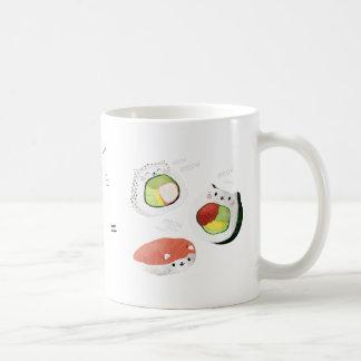 ¡El gato más el sushi iguala Cuteness! Taza De Café