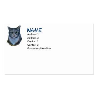 El gato mira fijamente abajo tarjeta de visita