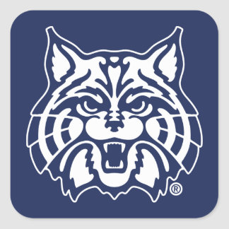 El gato montés de la Universidad de Arizona el | Pegatina Cuadrada