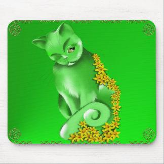 El gato Mousepad del jade Alfombrilla De Ratones