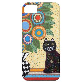 El gato negro del caso del iPad del iPhone del iPhone 5 Case-Mate Cobertura
