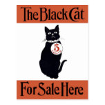 El gato negro - poster del vintage tarjeta postal