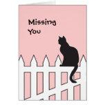 El gato negro que le falta viene por favor a casa  tarjeton