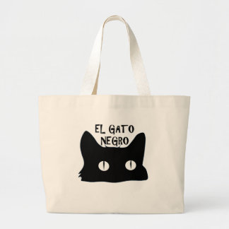 El Gato Negro  - The Black Cat Tote Bags