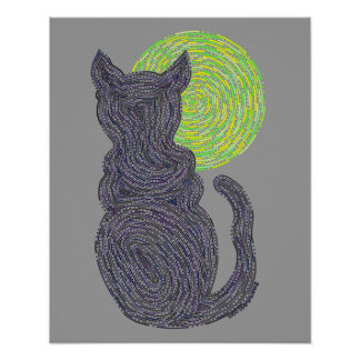 El gato negro y la luna resumen el gato del zen 16 póster