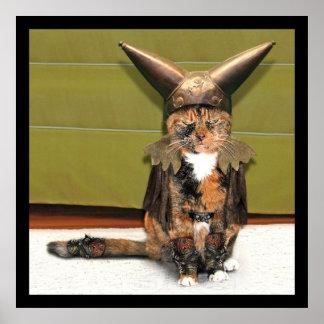 El gato nórdico no se divierte póster