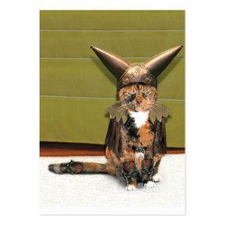 El gato nórdico no se divierte tarjetas de visita grandes