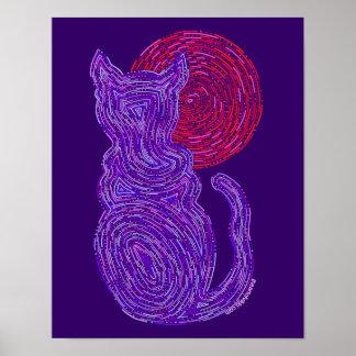 El gato púrpura y la luna resumen el gato del zen póster