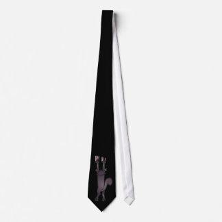 El gato que rasguña abajo muere, el regalo del día corbata personalizada