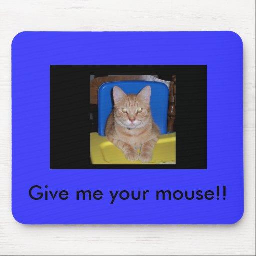 El gato quiere el ratón para el almuerzo tapetes de ratones