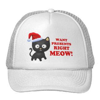 El gato quiere maullido correcto de los regalos de gorras de camionero