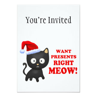 El gato quiere maullido correcto de los regalos de comunicado