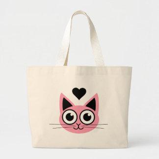 El gato rosado más lindo bolsa