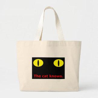 El gato sabe bolsa